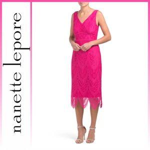 Nanette Lepore Lace Midi Cocktail Dress 🆕